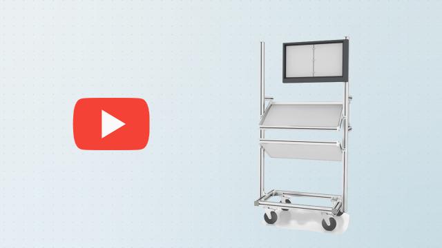 Composants mécaniques Bosch Rexroth - Exemple de chariot assemblé