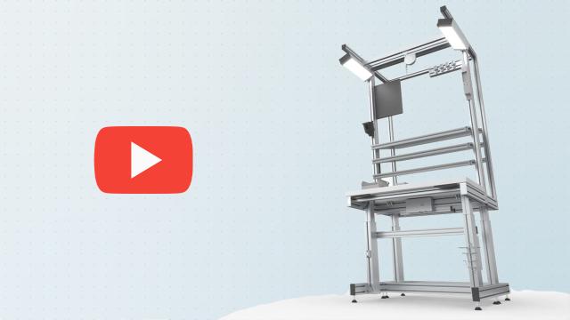 Poste de travail ergonomique MPS par Bosch Rexroth