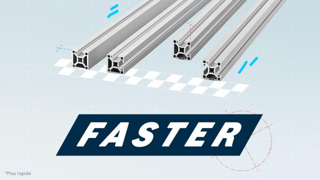 Profilés aluminium Bosch Rexroth - Faster