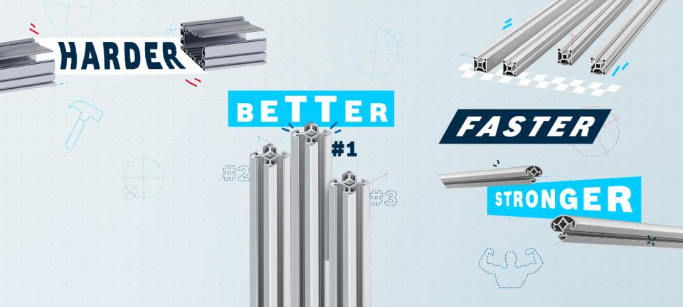 profilés aluminium Bosch Rexroth à toute épreuve
