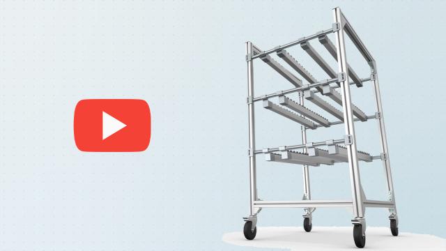 Video youtube systèmes de rayonnage lean modulaires de Bosch Rexroth