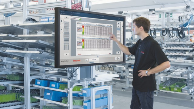 Rexroth ActiveCockpit in a factory setting