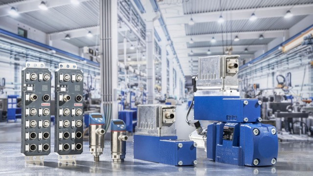 IO Link Products pictured in factory setting