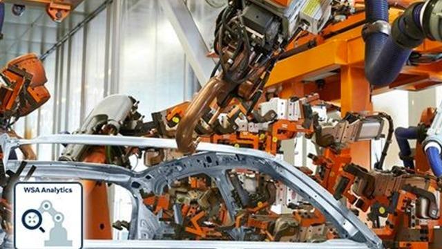 Weld Spot Robot in Factory