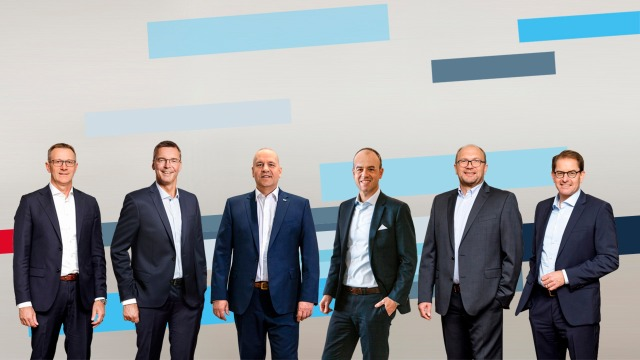 Left-to-right : Rolf Najork (Chairman of the Executive Board), Dr. Markus Forschner (Purchasing, Logistics and Human Resources), Dr. Steffen Haack (Development), Reinhard Schäfer (Production and Quality Management), Dr. Marc Wucherer (Sales)