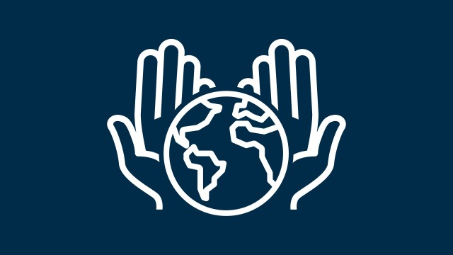 Icon of hands holding the earth