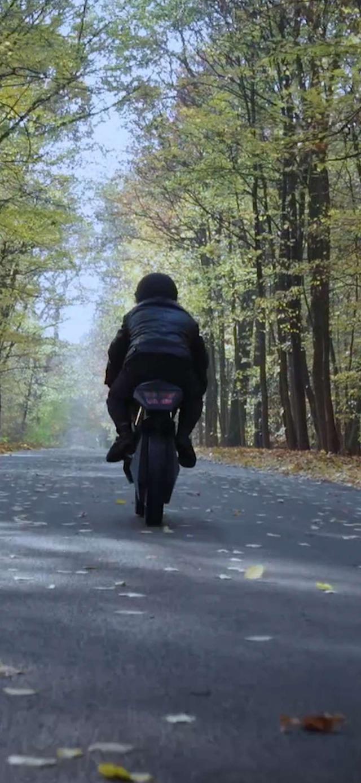Mr Najork on motorbike