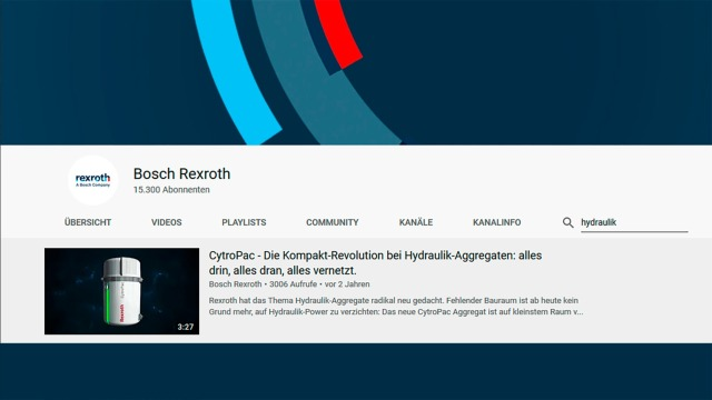 Industrial Hydraulics videos and web-seminars from Rexroth