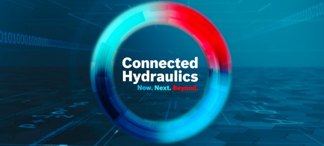The future of Hydraulics: Connected Hydraulics will leverage the power and intelligence of Bosch Rexroth's advanced hydraulics technology to break through limits and set new benchmarks for performance, functionality and lifetime.