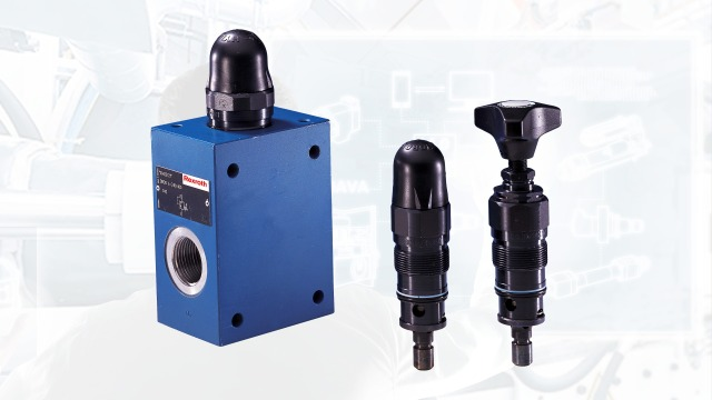 Configure your pressure valve such as pressure relief, reducing or shut-off valve