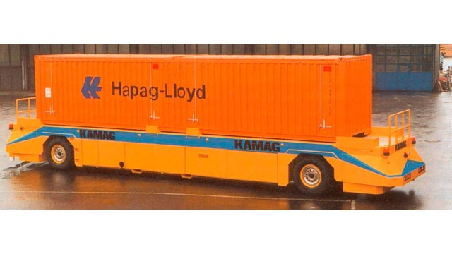 Driverless container transport system AGV