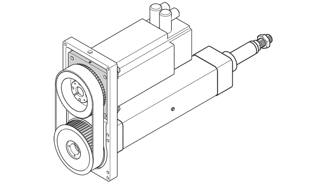 Parallel with belt side drive