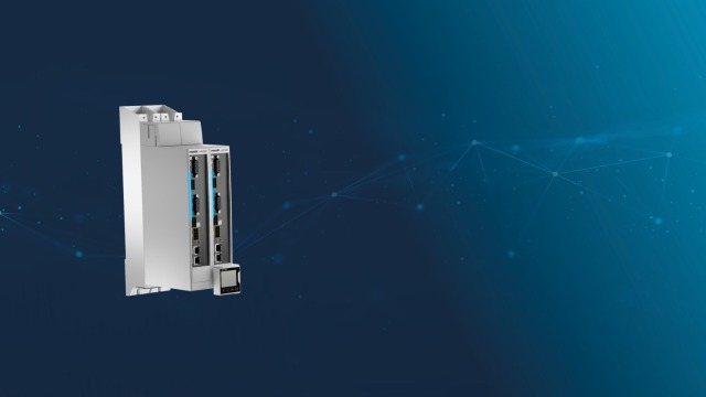Servo drive with integrated control system